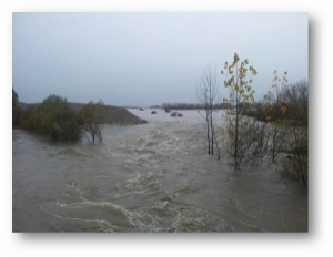 The water level of the Sava River is on the rise