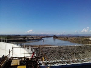 HPP Brežice Construction Work Continues