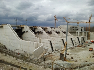 HPP Brežice Construction Work Progress Report