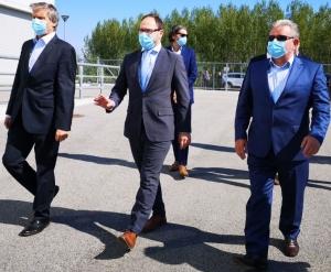 Minister za infrastrukturo ter minister za okolje in prostor na delovnem obisku HE Brežice