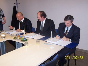 Podpis pogodbe za izgradnjo akumulacijskega bazena he krško