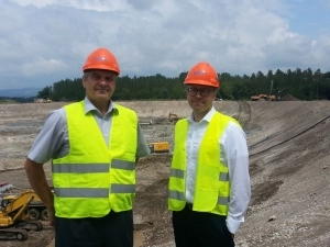HESS supervisors at the HPP Brežice construction site